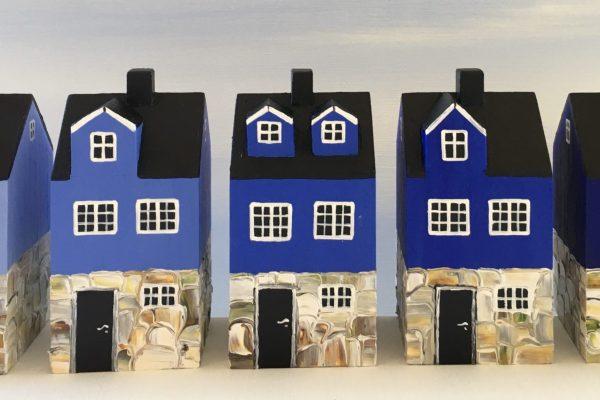 Blå huse